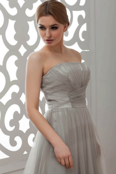 Strapless A-line Bridesmaid Dress_8