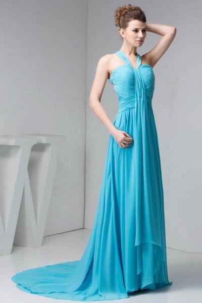 Excellent Halter Chiffon Princess Evening Dress_5