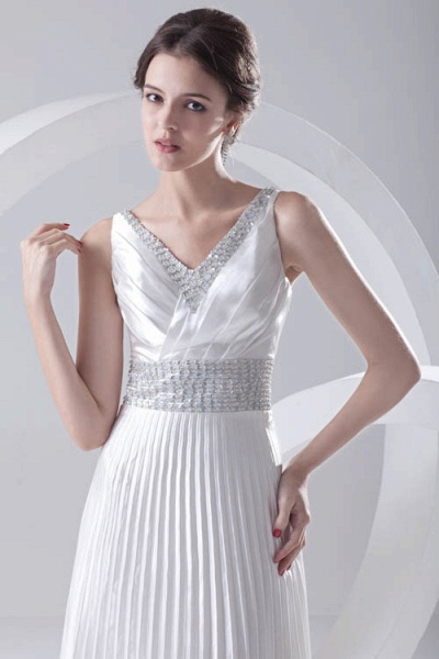 Beautiful V-neck Chiffon A-line Bridesmaid Dress_9