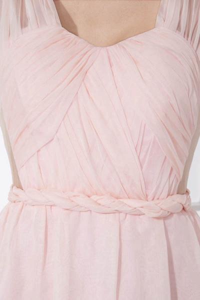 LEONA | A-line Scoop Mini Chiffon Bridesmaid Dresses_7