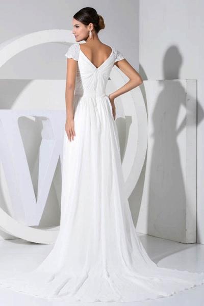 Attractive V-neck Chiffon A-line Bridesmaid Dress_3
