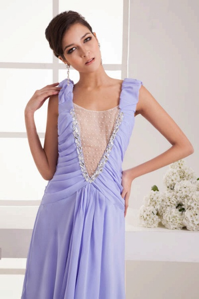 Fascinating Jewel Chiffon A-line Bridesmaid Dress_7