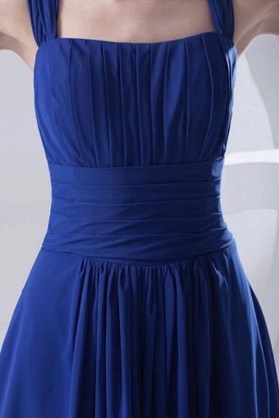 LEIGHTON | A Type A Collar Long SleevelessChiffon Royal Blue Bridesmaid Dress with Small folds_8