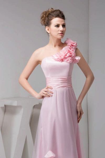 Amazing One Shoulder Chiffon Column Evening Dress_5