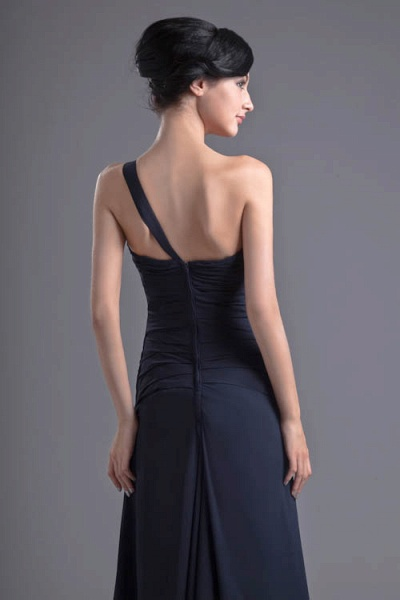 KYLEIGH | A Type One-shoulder Chiffon Bridesmaid Dress with Fold_3