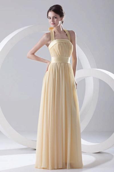 Fascinating Halter Chiffon A-line Bridesmaid Dress_9
