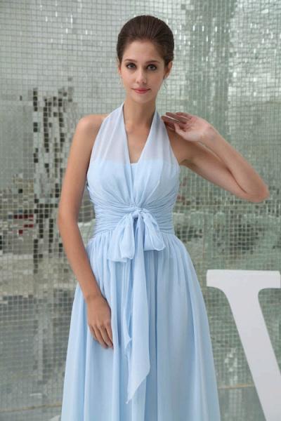 Precious Halter Chiffon A-line Bridesmaid Dress_3