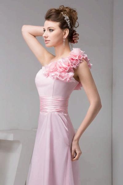 Amazing One Shoulder Chiffon Column Evening Dress_6