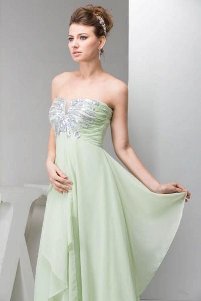Marvelous Strapless Chiffon Princess Evening Dress_4