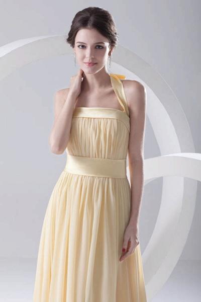 Fascinating Halter Chiffon A-line Bridesmaid Dress_4