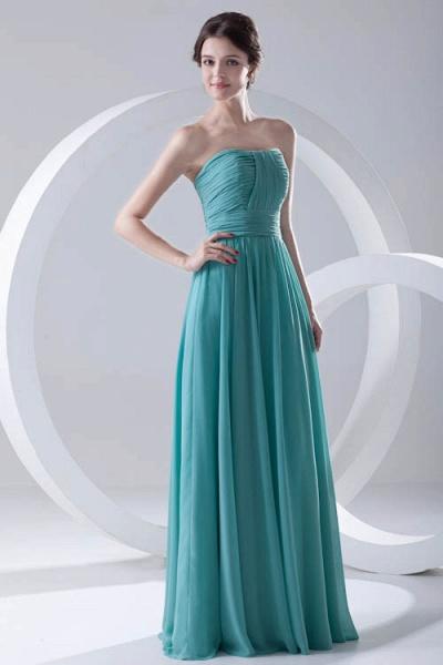 Amazing Strapless Chiffon A-line Bridesmaid Dress_4