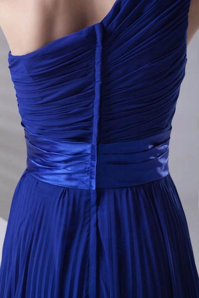 LILIANA | A-line One Shoulder Floor Length Chiffon Bridesmaid Dresses_5