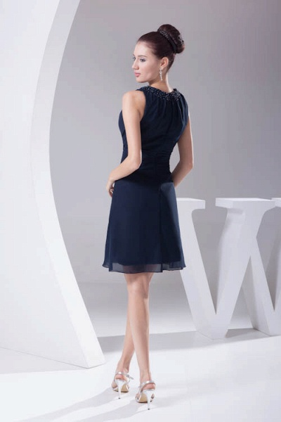 Graceful Jewel Chiffon A-line Bridesmaid Dress_3
