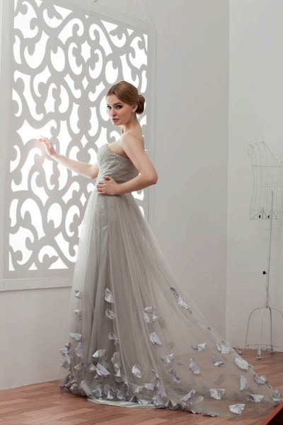 Strapless A-line Bridesmaid Dress_5