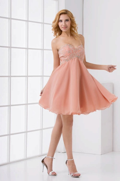 Awesome Strapless Chiffon A-line Bridesmaid Dress_4
