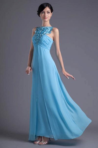 Fascinating Jewel Chiffon A-line Bridesmaid Dress_5