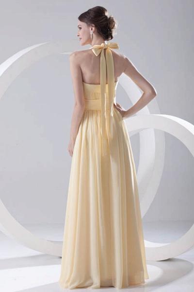 Fascinating Halter Chiffon A-line Bridesmaid Dress_3