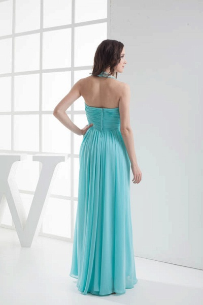 Strapless Column Ankle Length Bridesmaid Dress_3
