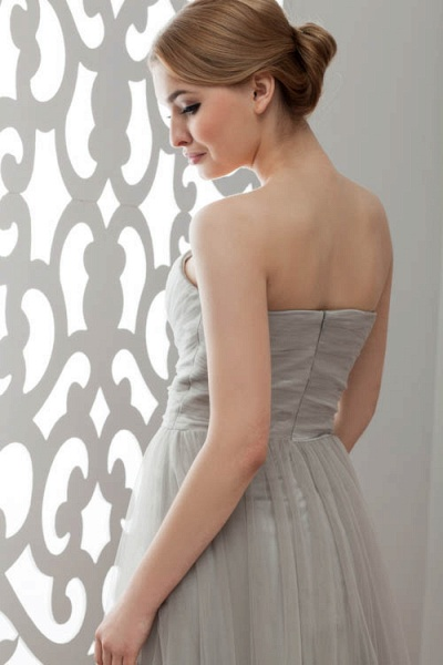 Strapless A-line Bridesmaid Dress_6