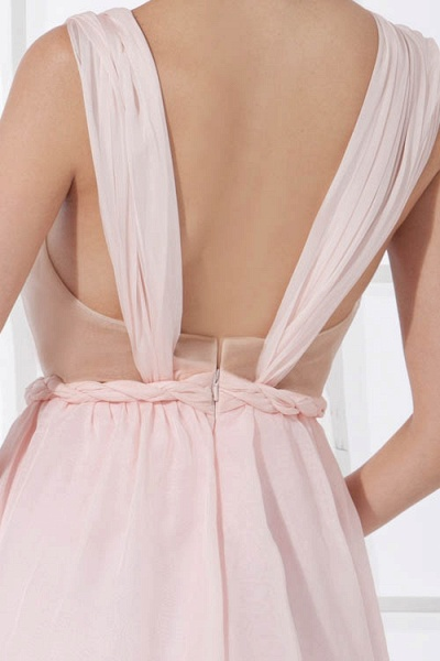 LEONA | A-line Scoop Mini Chiffon Bridesmaid Dresses_9