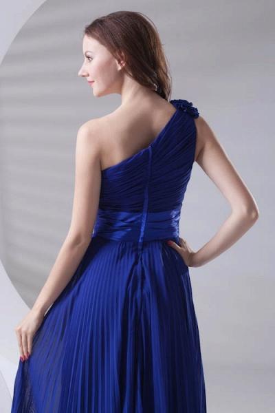 LILIANA | A-line One Shoulder Floor Length Chiffon Bridesmaid Dresses_7