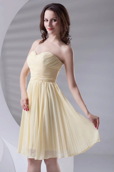 Fascinating Sweetheart Chiffon A-line Bridesmaid Dress_4