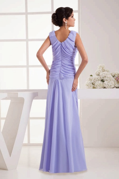 Fascinating Jewel Chiffon A-line Bridesmaid Dress_3