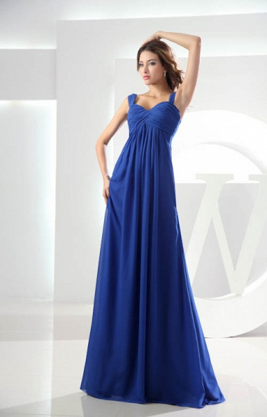 KILEY | A Type Heart Collar Chiffon Bridesmaid Dress with Fold_6