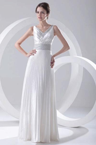 Beautiful V-neck Chiffon A-line Bridesmaid Dress_5