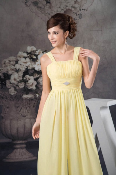 Eye-catching Straps Chiffon A-line Bridesmaid Dress_9