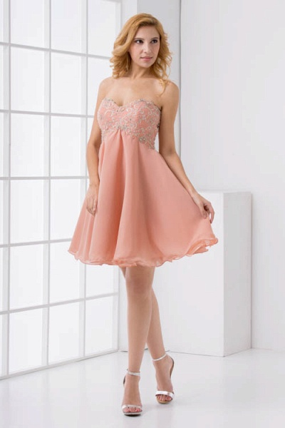 Awesome Strapless Chiffon A-line Bridesmaid Dress_8