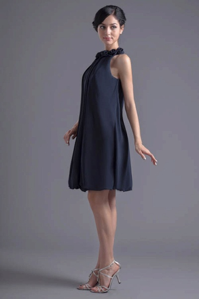 Affordable Jewel Chiffon A-line Bridesmaid Dress_8