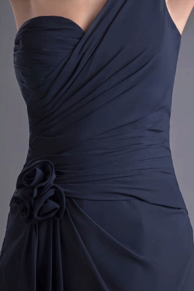 KYLEIGH | A Type One-shoulder Chiffon Bridesmaid Dress with Fold_4