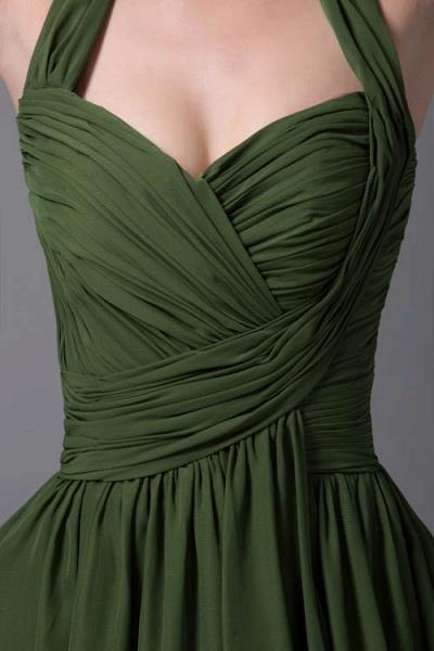 Best Halter Chiffon A-line Bridesmaid Dress_4