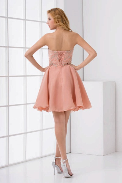 Awesome Strapless Chiffon A-line Bridesmaid Dress_3