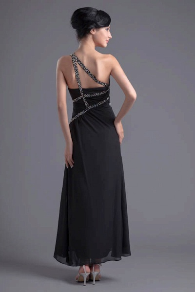 Fascinating One Shoulder Chiffon A-line Bridesmaid Dress_3