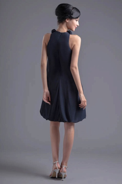 Affordable Jewel Chiffon A-line Bridesmaid Dress_7