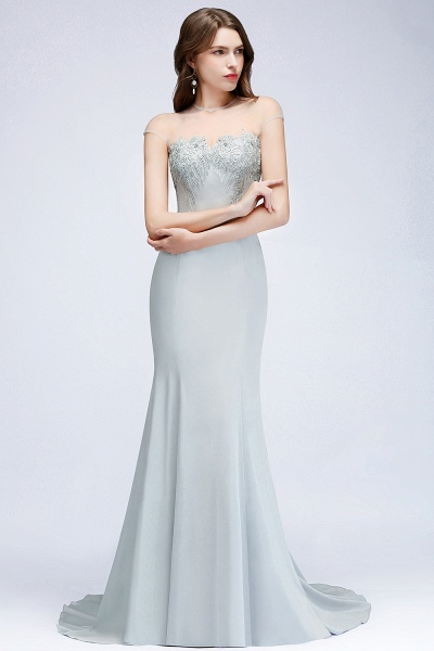 Best Jewel Stretch Satin Mermaid Evening Dress_3