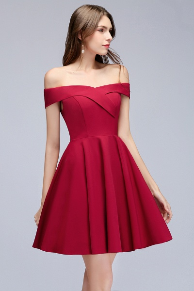 MAMIE | A-line Off-the-shoulder Short Burgundy Homecoming Dresses_10