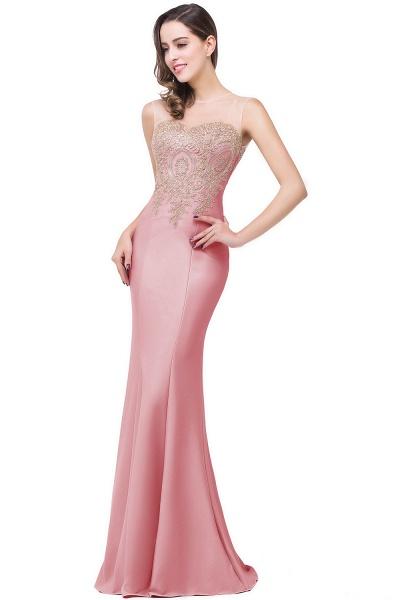 Mermaid Floor-Length Sheer Prom Dresses with Rhinestone Appliques_3