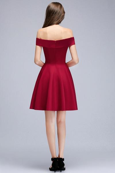 MAMIE | A-line Off-the-shoulder Short Burgundy Homecoming Dresses_4