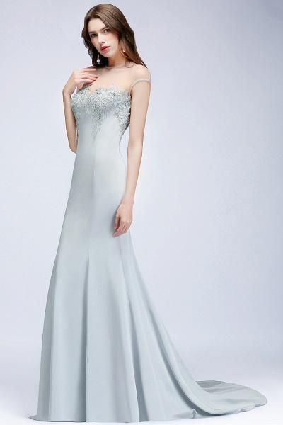 Best Jewel Stretch Satin Mermaid Evening Dress_4