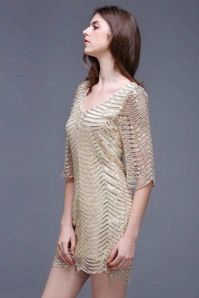 Black Long Sleeve Short Casual Dress_6