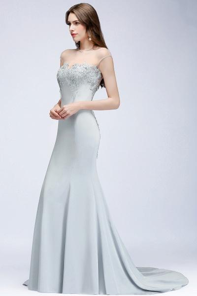 Best Jewel Stretch Satin Mermaid Evening Dress_7