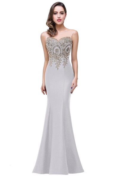 Mermaid Floor-Length Sheer Prom Dresses with Rhinestone Appliques_15