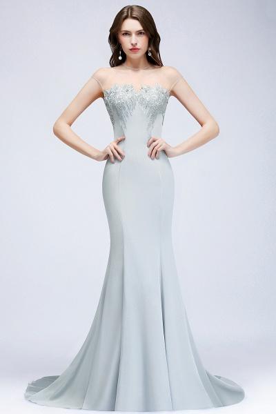 Best Jewel Stretch Satin Mermaid Evening Dress_1