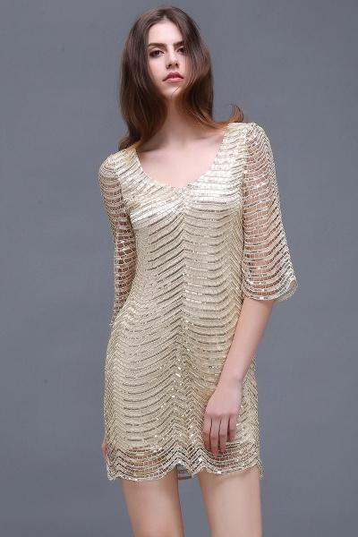 Black Long Sleeve Short Casual Dress_5