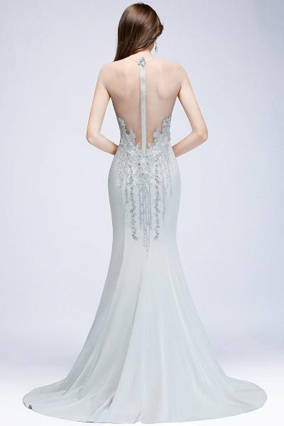 Best Jewel Stretch Satin Mermaid Evening Dress_2