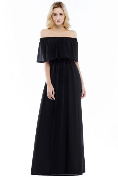 Chic Bateau Chiffon A-line Evening Dress_2