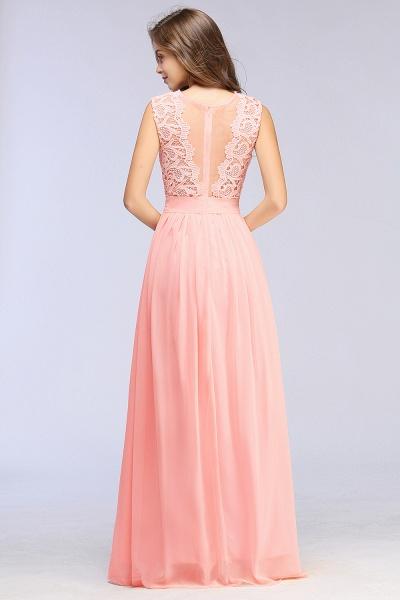 Sheath Crew Sleeveless Floor-length Lace Top Chiffon Bridesmaid Dresses_10
